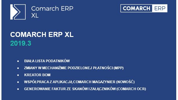 nowa wersja Comarch ERP XL